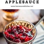 Cranberry Sauce with Applesauce