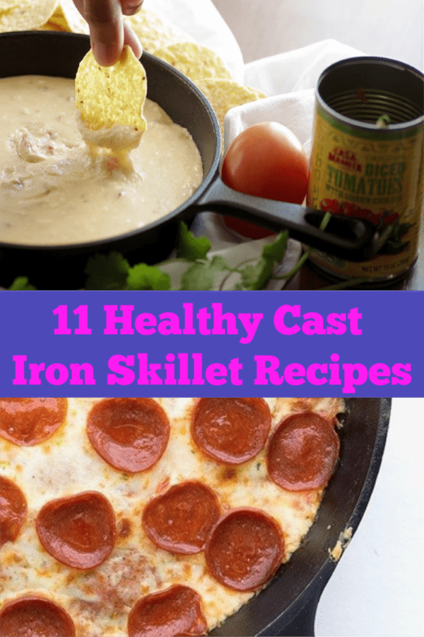 11 Healthy Cast Iron Skillet Recipes that will make your eyes pop.  Includes keto, whole foods and vegetarian.  Easy and delicious! #castiron #skilletrecipes #recipes #weeknight