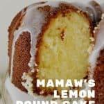 Mamaw's Lemon Pound Cake
