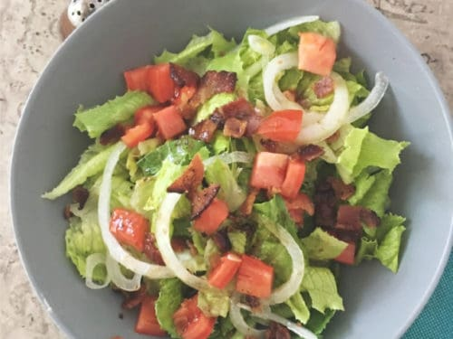 Southern Wilted Lettuce Salad