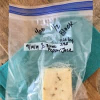 4 oz pepper jack frozen cheese block in freezer bag