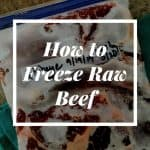 How to Freeze Raw Beef