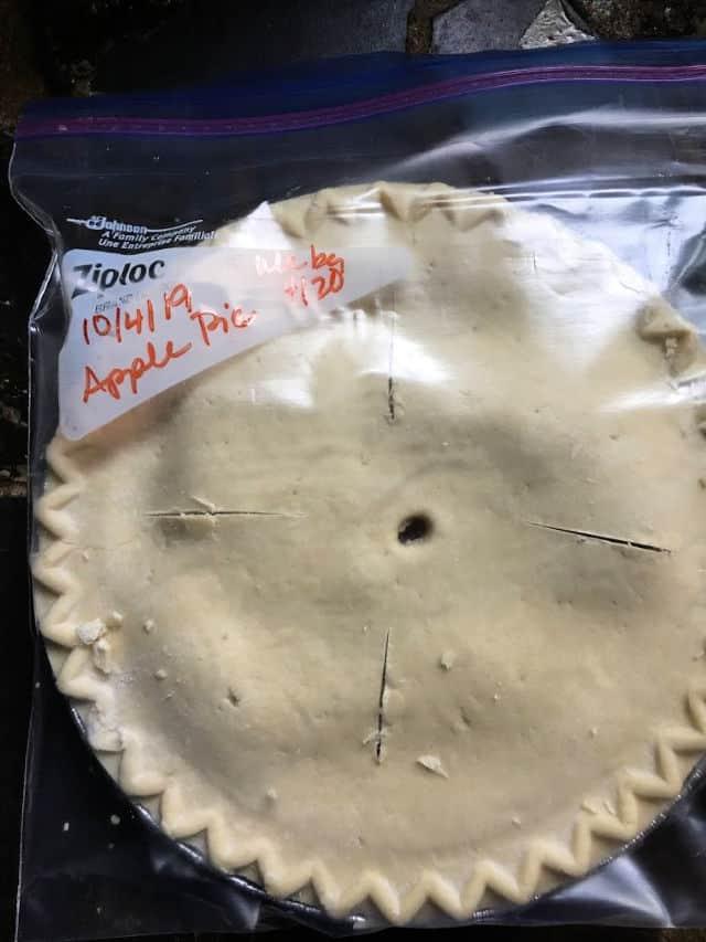 Apple Pie in a labeled Freezer Storage Bag