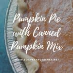 Pumpkin Pie with Canned Pumpkin Mix