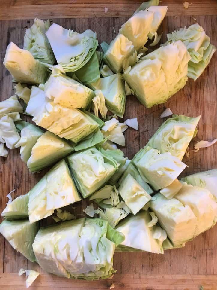 cabbage cut into bite size pieces