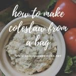 How to Make Coleslaw from a Bag