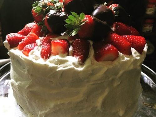 Easy Strawberry Easter Cake