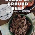 How To Break Up Ground Beef
