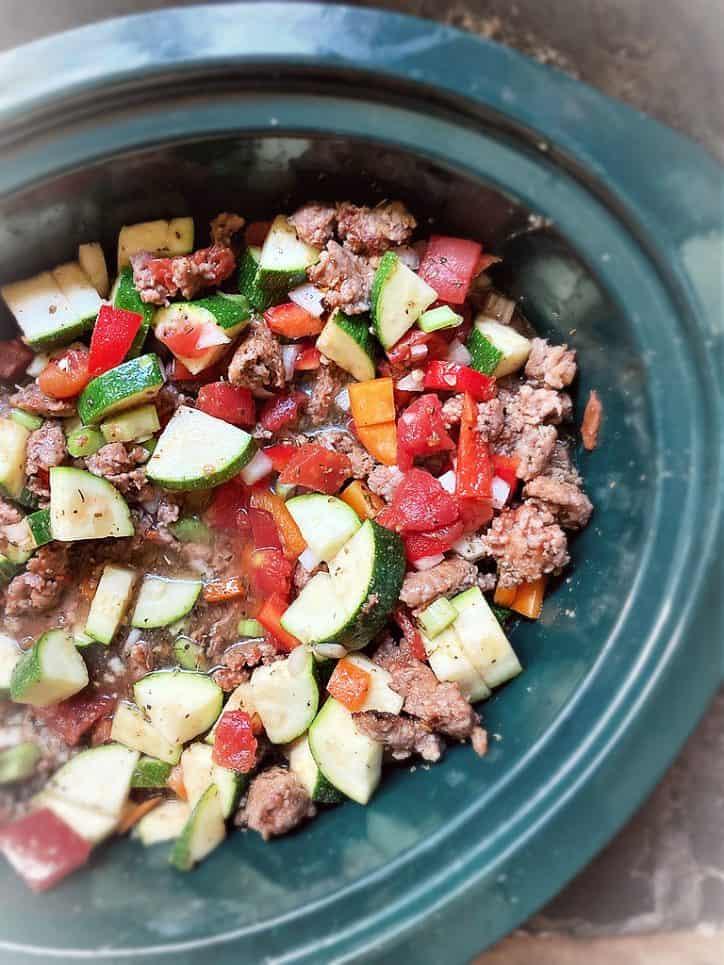 italian summer soup in crockpot