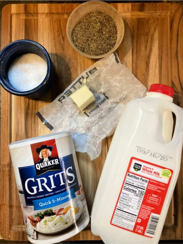 ingredients on cutting board