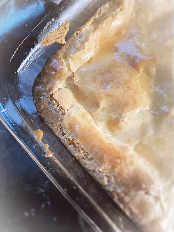 edge of a philadelphia cheesecake bar