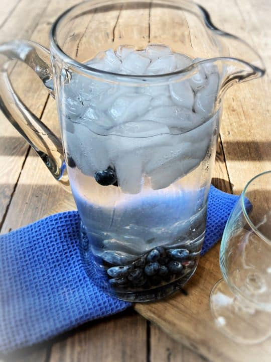 pitcher on table