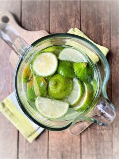 Limes water in pitcher
