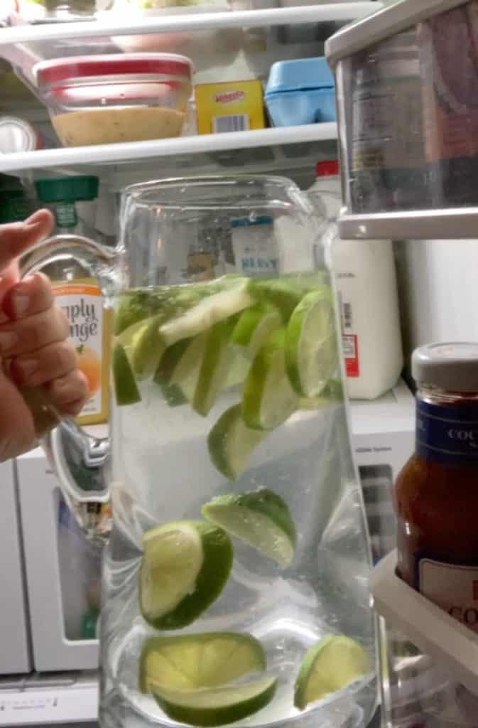 pitcher in fridge