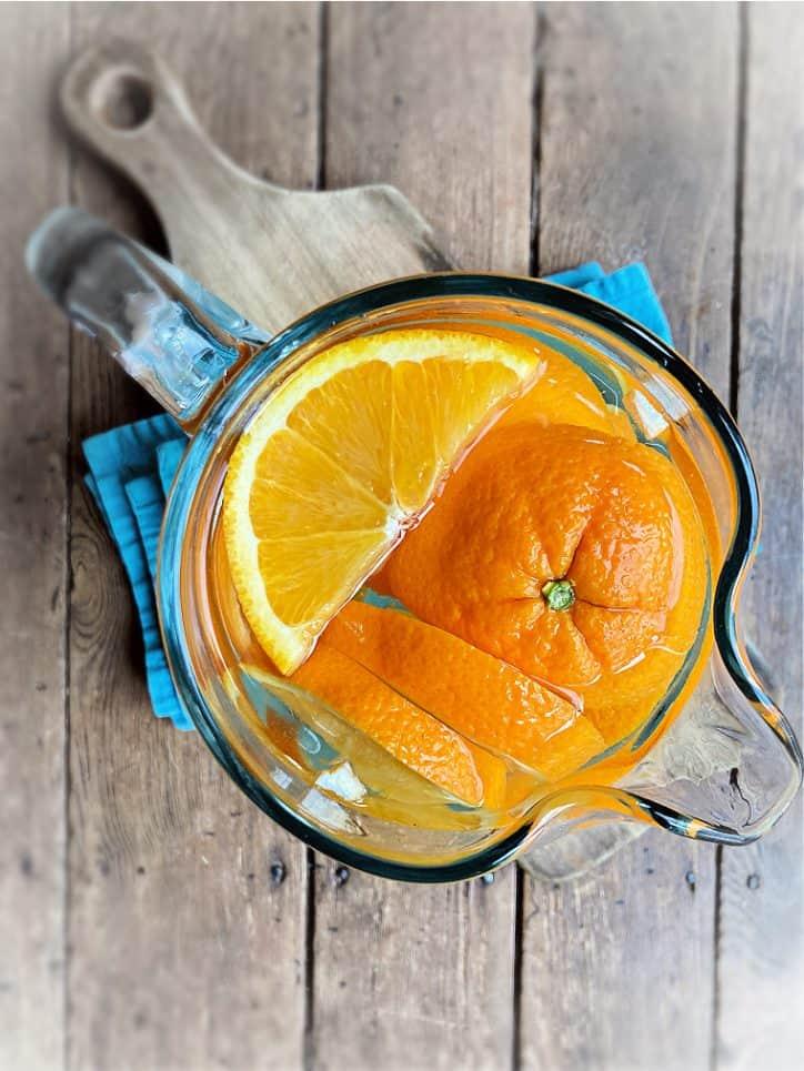 pitcher of orange water