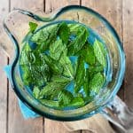 mint water in pitcher