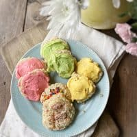 plate of granny's sour cream cookies