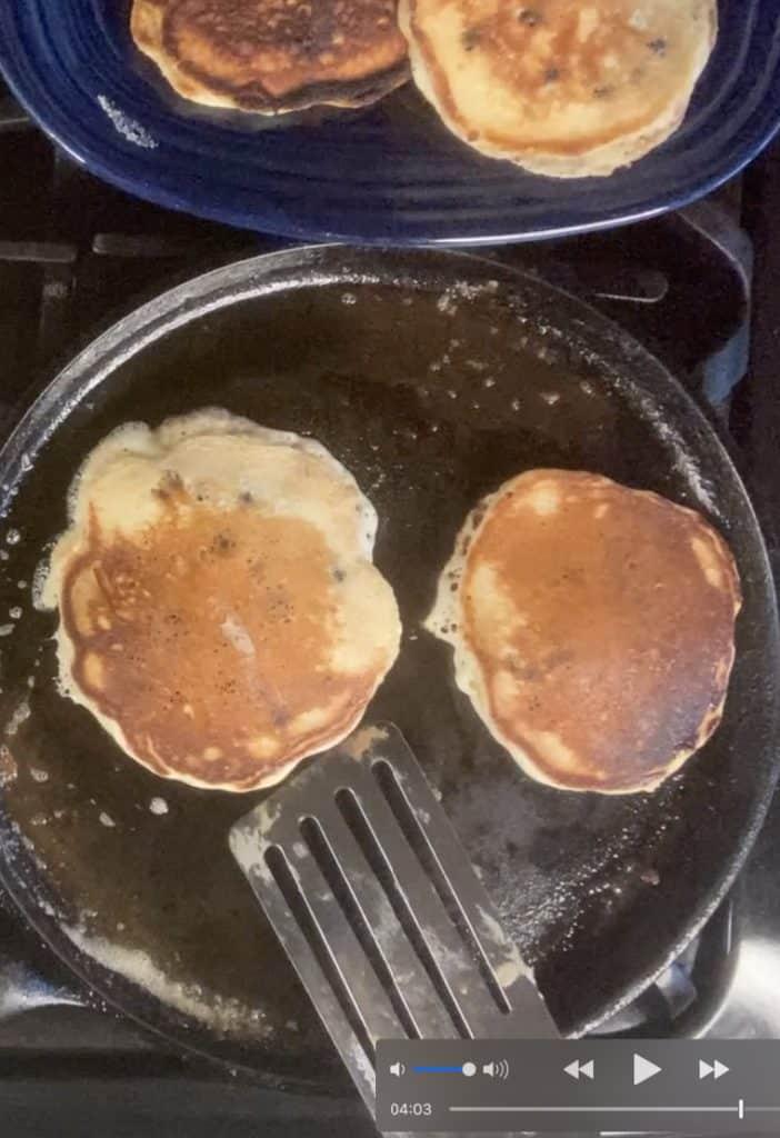 pancakes on pan