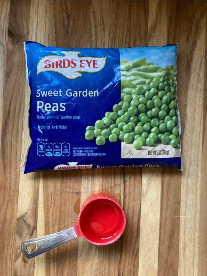 peas on table