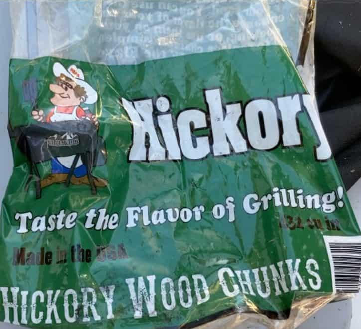 bag of hickory chunks