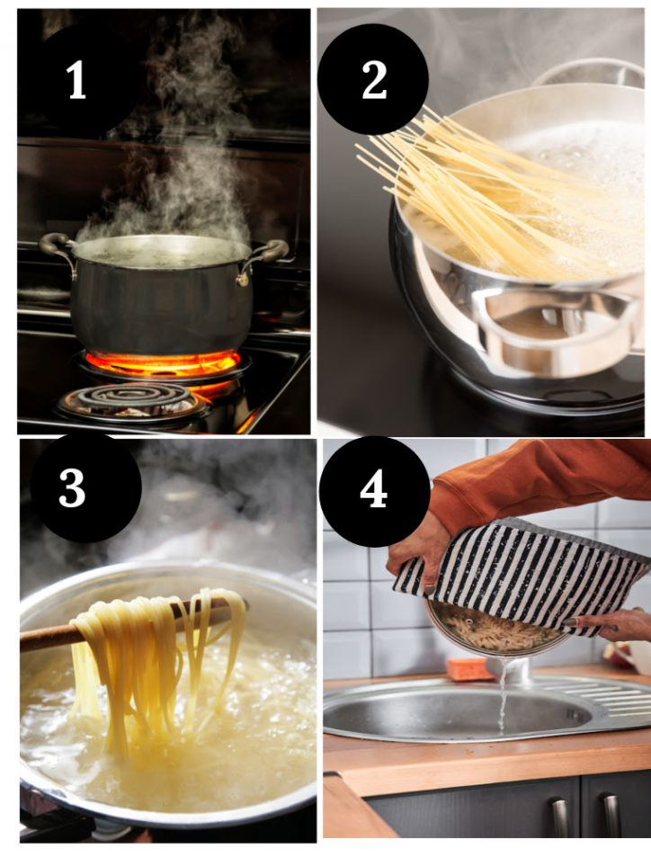 how to boil pasta step by step