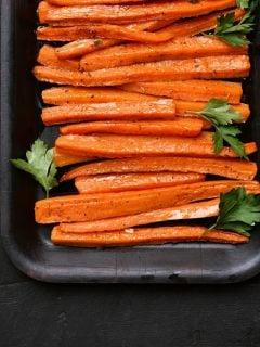 carrots on a tray