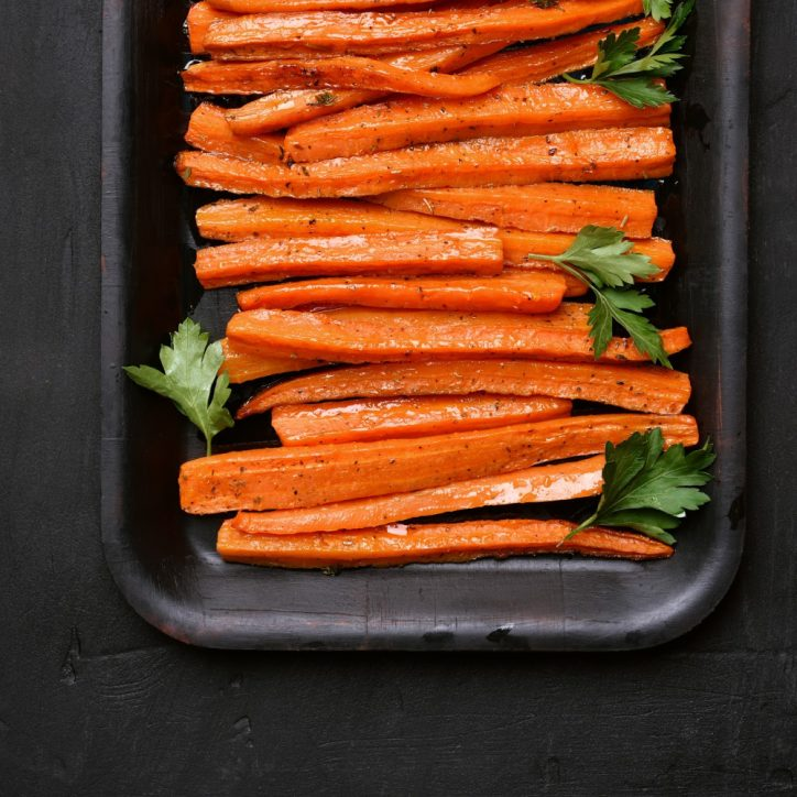 plate of pressure cooker carrots