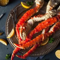 crab legs on a table