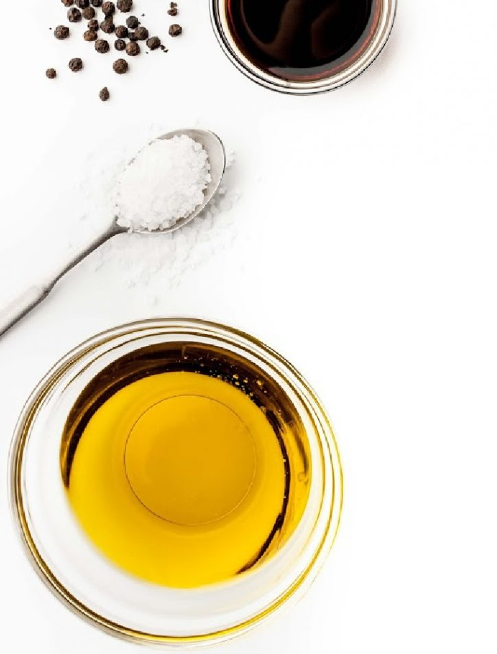 salt pepper and oil