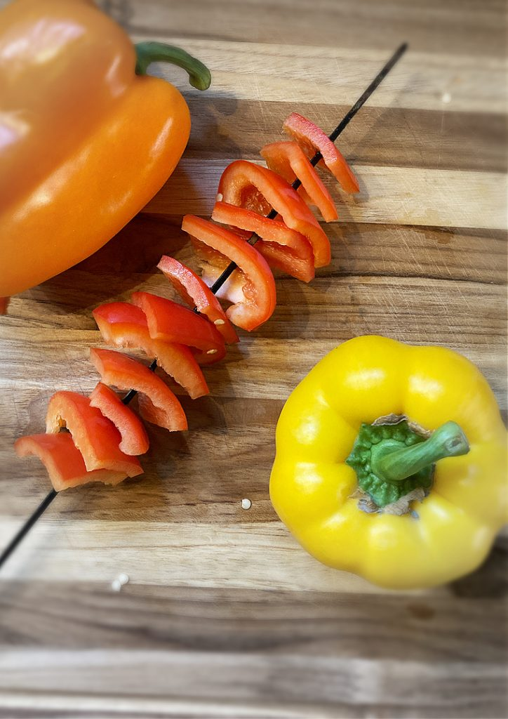 peppers on a kabob
