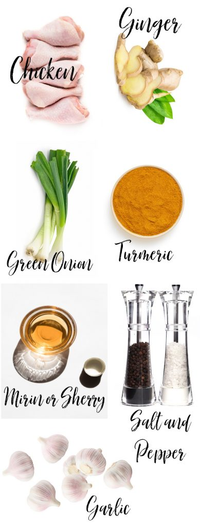 Ingredients on a chart
