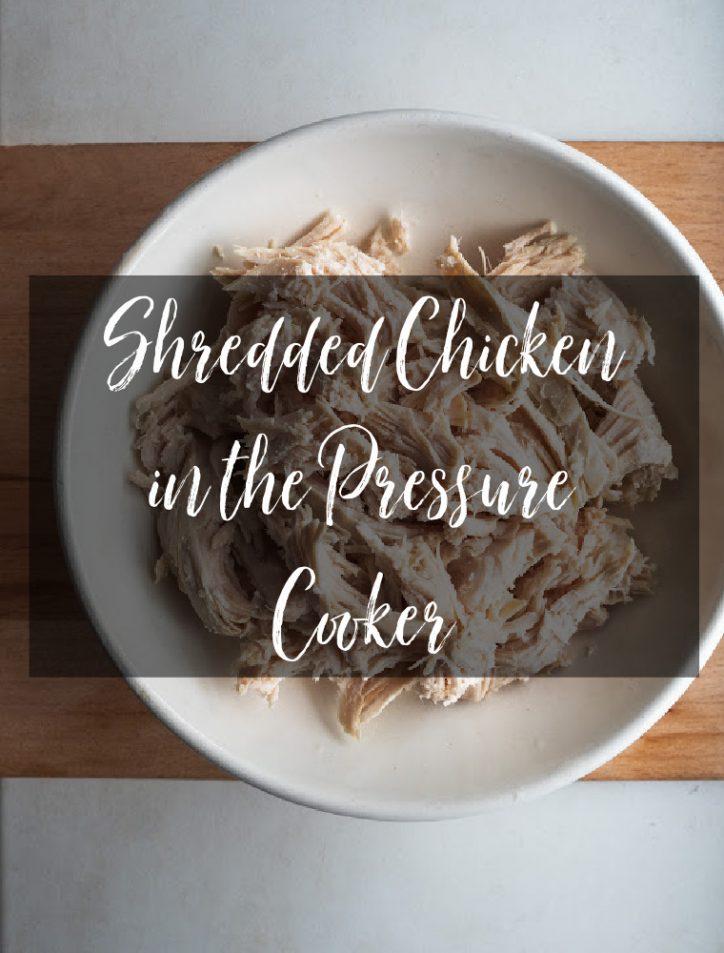 shredded pressure cooked chicken