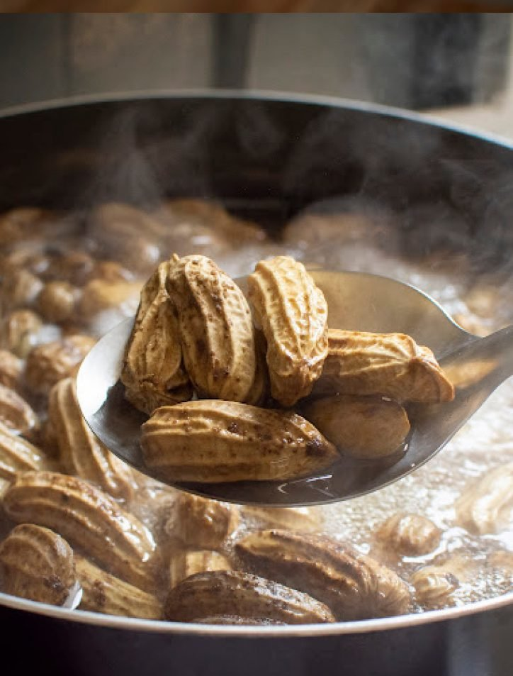 pressure cooker boiled peanuts and bowl