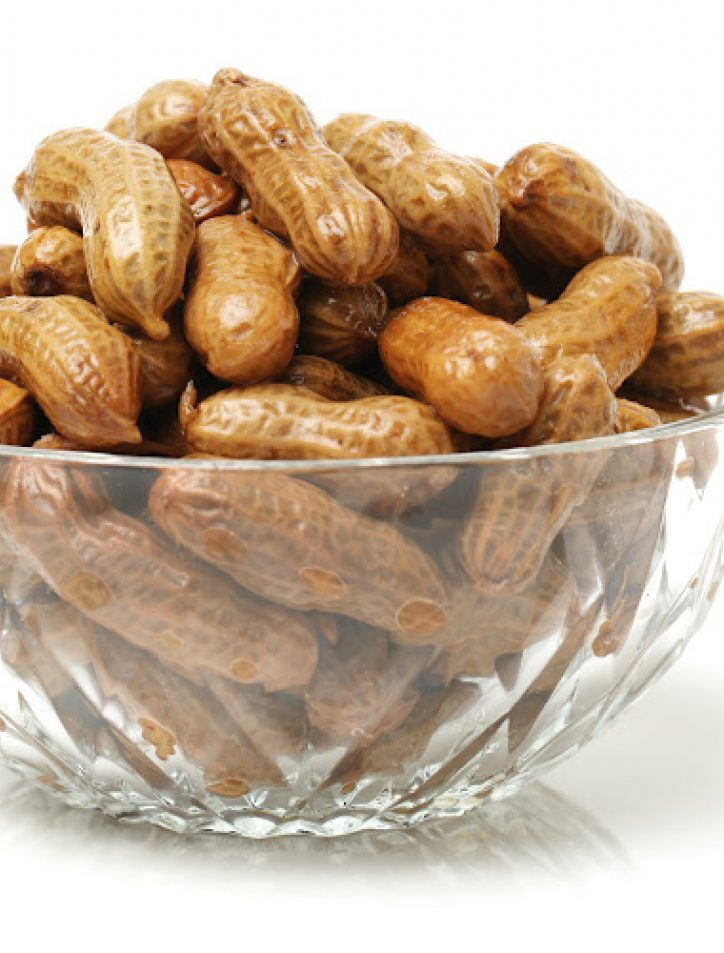boiled peanuts in a bowl