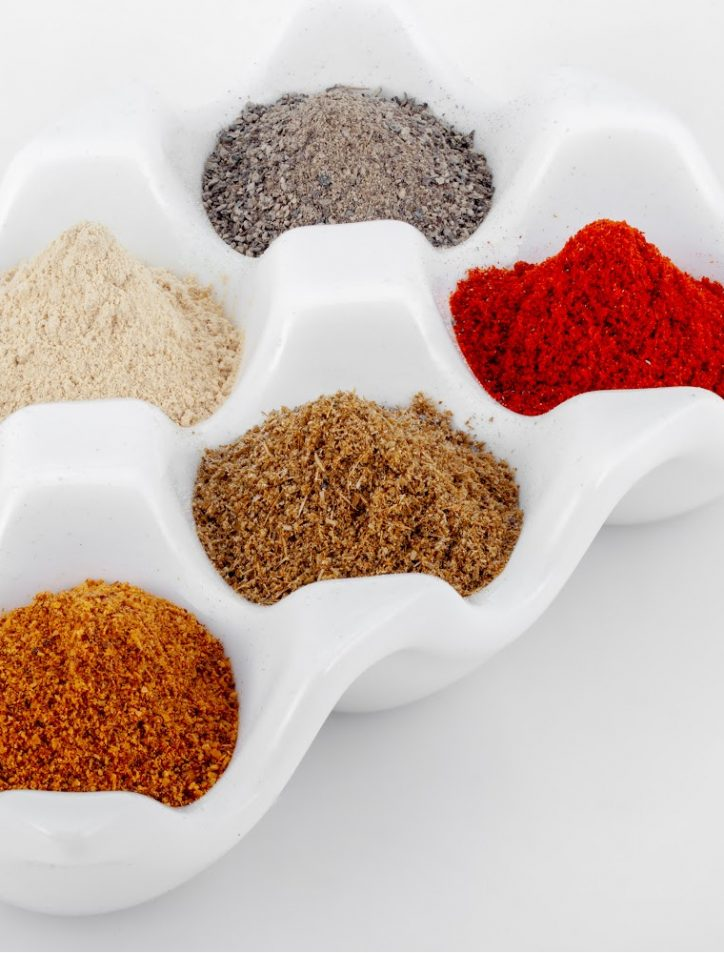 spices in container