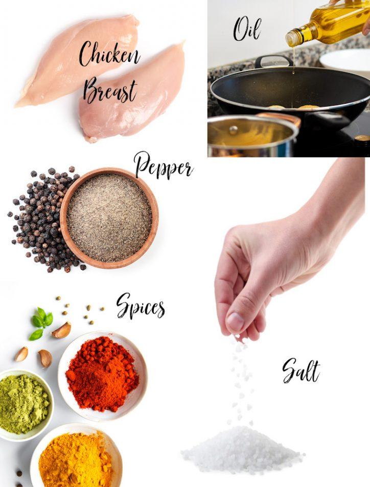 Ingredient photo collage
